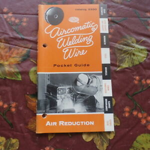1958 Aircomatic Welding Wire Pocket Guide Catalog 2330 L k