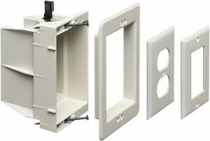Arlington Dvfr1w 1 Recessed Electrical outlet Mounting Box Single Gang