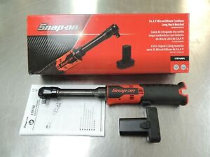 Snap On 14 4v 3 8 Red Microlithium Cordless Long Neck Ratchet Ctr768w1