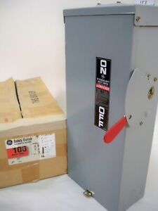 Ge Rainproof Tg3223r 100amp 240volt 2 Poll Fused Safety Switch New