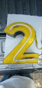Indoor Or Outdoor Large Acrylic Advertising Sign Number 2 Neon Parts