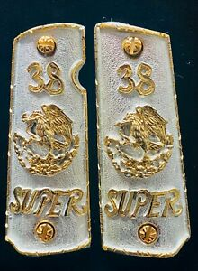 1911 Government Cachas 38 Super 45 Colt Gun Grips 24K Gold Plated FREE Screws $199.00