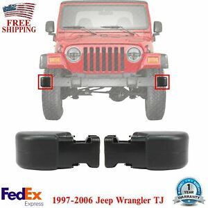 New Front Bumper End Caps Set Of 2 For 1997 2006 Jeep Wrangler Tj