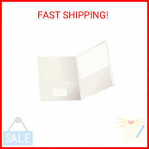 Oxford Twin pocket Folders White Holds 100 Sheets Box Of 25 57504ee