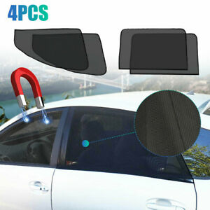 4x Magnetic Car Side Frontamprear Window Sun Shade Cover Mesh Shield Uv Protection Fits Toyota Camry