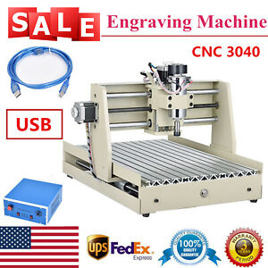 Cnc Router Engraver Kit 3040 3axis Usb 400w Engraving Drilling Milling Machine