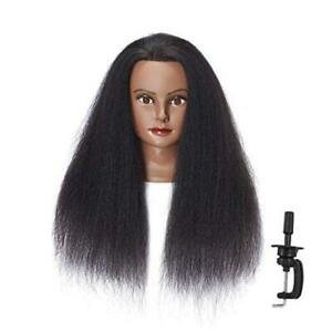 100 Real Hair Afro Mannequin Head Hairdresser Hair Styling Training 6611b0216