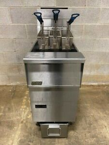 Pitco Sfsg14 Frialator Natural Gas Deep Fat Fryer W Built in Filtration
