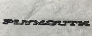 1960s 1970s Plymouth Barracuda Trunklid Emblem
