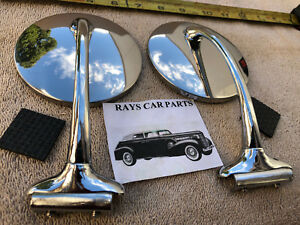 New Set 37 39 48 54 4 Inch Round Right And Left Vintage Style Side View Mirrors