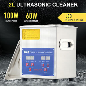 2l Professional Digital Ultrasonic Cleaner Machine With Timer Heated Cleaning Os