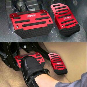 Red Non Slip Automatic Gas Brake Foot Pedal Pad Cover Car Accessories Parts Fits 2014 Camry Se