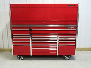Snap On Candy Apple Red 84 Epiq Tool Box Toolbox Stainless Power Top Hutch