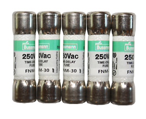 Fnm 30 30 Amp Time Delay Midget Fuse 5 Pack Fast Shipping