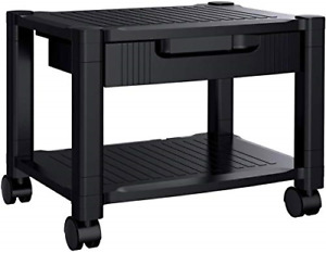 Printer Stand Under Desk Printer Stand With Cable Management Storage Height