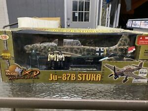The Ultimate Soldier 1 18 Scale Xtreme Detail Wwii Ju 87b Stuka Plane With Figs