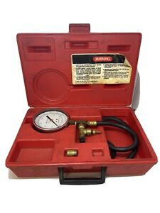 Snap on Tools Usa Mt337 Fuel Injection Pressure Gauge Set With Case