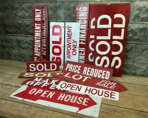 Vintage Real Estate Signs Double Sided Metal Realtor Signs Metal Sold Signs G