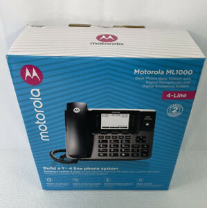 Motorola Ml1000 Dect 6 0 Expandable 4 line Business Phone System With Voicemail
