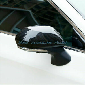 New Gloss Black Rearview Mirror Cover Trim For Toyota Camry Avalon Prius
