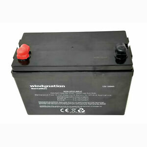 Windy Nation 12v 100 Amp Hour Deep Cycle Sealed Lead Solar Rv Battery open Box