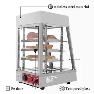 Commercial Food Warmer Court Heat Food Pizza Display Warmer Cabinet 15 Glass