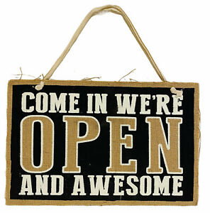 Store Shop 2 Sided Sign We Are Open And Awesome closed But Still Awesome 9x14