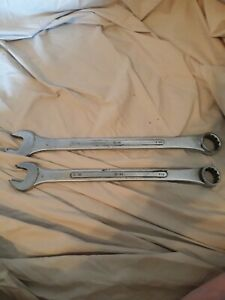 S K Wrenches C 40 C 36 1 1 4 1 1 8 12pt Closed End Vintage Raised Panel