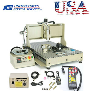 1500w 4 Axis Cnc 6090 Router 3d Engraver Metal Milling Engraving Machine Usb
