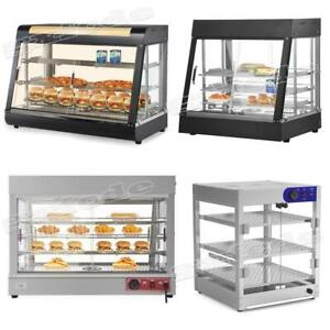 15 27 35 48 Commercial Food Warmer Court Heat Pizza Display Cabinet Glass