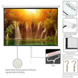 100 Inch 4 3 Pull Down Projector Projection Screen Home Movie Classroom Display