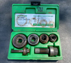 Greenlee 735bb Ball Bearing Knockout Punch Set Used