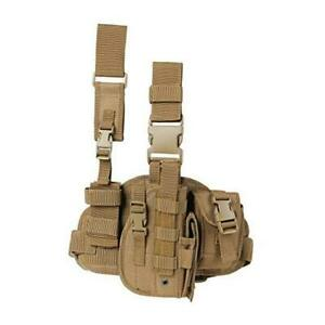 Drop Leg Holster with Magazine PouchRight Left Handed Tactical TAN Right $35.99