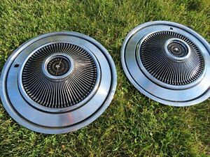 2 1973 Ford Thunderbird Hubcaps Wheel Covers Oem Hub Cap Excellent