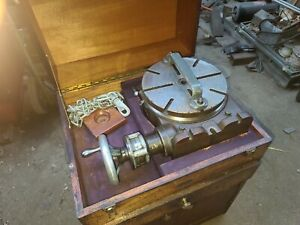 11 Moore Special Tool Rotary Table In Original Cabinet