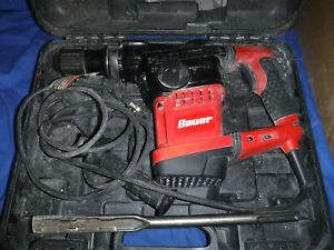 Bauer 1643e b Variable Speed 1 9 16 Sds Max Rotary Hammer Drill W Case Bit