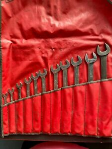 Snap On 12 Point Sae Flank Drive Standard Combination Wrench Set 11 Pieces