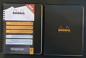 Rhodia Efficient Meeting Notebooks Black set Of Two