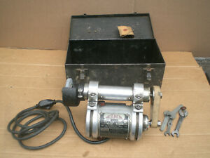 Themac Metal Lathe Tool Post Grinder Type J 3 115v With Metal Storage Case