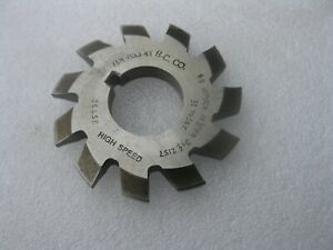Barber Colman Involute Gear Tooth Cutter No 3 10p 35 To 54t D f 2157 7 8 Id