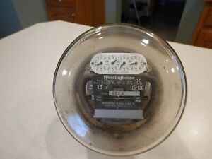 Westinghouse Oc Type S 2 Wire Single Phase 15 Amp 115 120 Volt Electric Meter