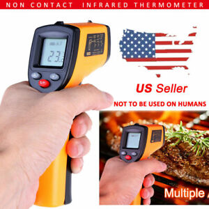 New Non Contact Lcd Digital Infrared Thermometer Temperature Ir Gun Industrial