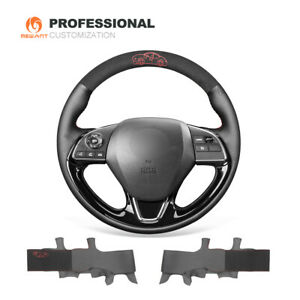 Mewant Suede Leather Car Steering Wheel Cover For Mitsubishi Outlander Asx 2016