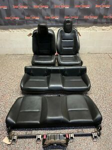 2010 Chevrolet Camaro Ss Oem Coupe Front Rear Black Leather Seats