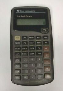 Texas Instruments Ba Real Estate Calculator Real Estate Analyst With Case works
