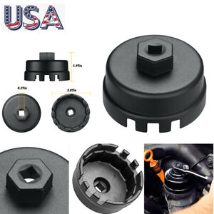 64 5mm 14 Flutes Oil Filter Cap Wrench Cup Socket Remover Tool For Toyota Lexus