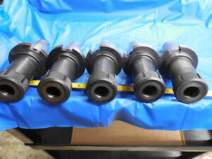 Group Of 5 Cat50 Tg100 Round Nut Collet Chuck Tool Holder Techniks Parlec Lyndex