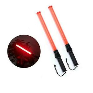 2 Pieces 21 inch Signal Traffic Safety Baton Light Traffic Control 21 2 Pc Red