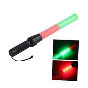 21inch Signal Traffic Safety Wand Baton Led Light With 3 1 Pc red Green