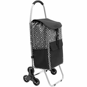 Mount it Stair Climber Shopping Cart With Bag
